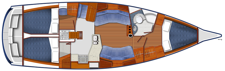 Blue Jacket 40 BJ40 Accommodations Cabin
